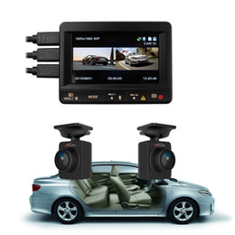 Wholesale Car Cameras Channel - Original K1S Ambarella A7LA70 2-channel Front Rear Camera full HD 1080P + GPS Hidden Driving Recording System Dashcam Car DVR