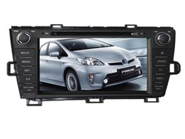 Wholesale Car Audio For Toyota - free shipping 8Inch Car DVD Player FOR toyota prius 2009 2010 2011 2012 Bluetooth GPS Navigation Radio stereo media audio player FREE Map