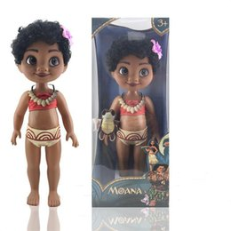 Wholesale Wholesale Christmas Toys For Kids - 16 inches empty body Moana Princess Action Figures cartoon plastic Moana toys with music IC for children Christmas gift C2672