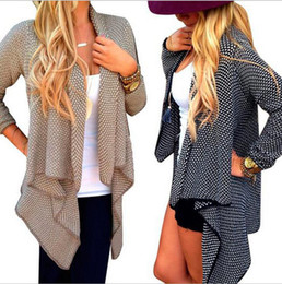 Wholesale Long Black Sweater Coat Plus Size - Sell like hot cakes Autumn Winter Fashion Women Outerwear Loose Knit Waterfall Cardigan Jacket Long Sleeve Irregular Sweater Coat Plus Size
