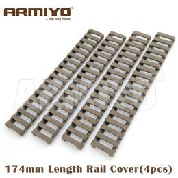 "Wholesale handguard covers - Armiyo 18 slot Snap-on 7"" Tactical Ladder Rubber Cover Quad Handguard Picatinny Rail Shooting Hunting Gun Accessories"