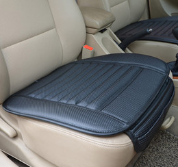 Wholesale Wholesale Padded Seat - 2016 Summer Car Leather Bamboo Charcoal Cushions Car Ceat Covers Car Seat Cushion Pad Monolithic Ice Silk Cushion Ceat Pads