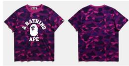 Wholesale Triangle Skateboard - Hot Sale men T-Shirt Crew Neck Short Sleeve shark Mens Summer Cotton Tees White Skateboards Sport Shirt Women Triangle Print Tee