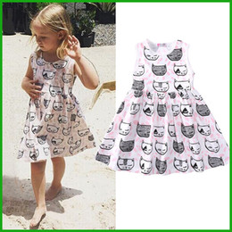 Wholesale Leopard Lace Costume - kids toddler baby cat princess tulle tutu dress vestido casual style america fashion lovely children clothing outfit costume