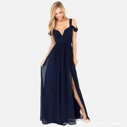 Wholesale Spaghetti Strap Dresses Women - Bare Breast Sexy Dress Spaghetti Strap Backless Formal Casual Dresses Women Clothes with Deep V Neck for Ladies TM5015