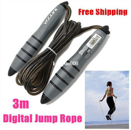 Wholesale Timer Digital Jump Rope - Hot Wholesale Intelligent CALORIE 3M Digital Skipping Jump Rope Counter Timer LCD Free Shipping
