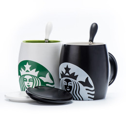 Wholesale Chinese Tea Gift Boxes - chinese china pottery and porcelain ceramic starbucks coffee tea cup creative water glass luxurious ceramic couples mug