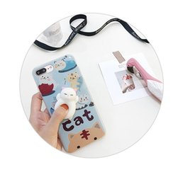 Wholesale Wholesale Sleeping Kitty - Case for iPhone 8 plus 3D Cute Soft Silicone Squishy Cat Fundas for iPhone 7 plus 6 6S Cover Animal Sleeping Kitty Coque