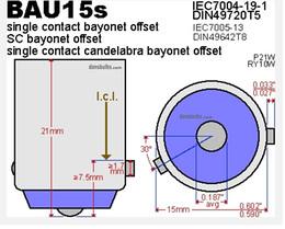 Wholesale Brass Bases - 100pcs Brass BAU15S Lamp Bases @ Lamp Holders Single Contact Bayonet Offset ROHS
