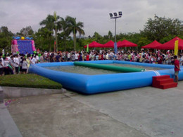 Wholesale Inflatable Paddling Pools - (Specialty Store)size 10*10 M Large outdoor inflatable swimming pool exciting inflatable paddling pool difference size difference price