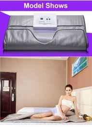 Wholesale Body Spa Sauna - Sauna Blanket Far Infrared Body Fat Reduce Lymph Drainage Slimming Professional Beauty Spa Machine 2 Zones
