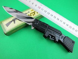 Wholesale Ak 47 Knives - AK-47 Fast open tactical folding knife 440C 56HRC blade outdoor camping hiking survival folding knives with papaer box