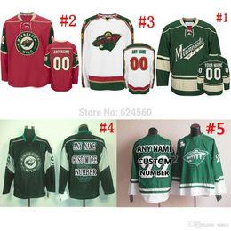 Name Minnesota Wild Jerseys Or Blank Home Away Sewn On Embroidery Logos Ice Hockey