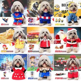 Wholesale Autumn Nursing Clothes - DHL free ship Pet role-playing dog clothes costumes Christmas Halloween pirate superman nurse sailor cat dog clothing Supplies autumn winter