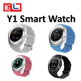 Wholesale Smartphone Retail Box - Y1 Wireless Smart Watch Bluetooth Reminder Monitor Anti-lost Camera for IOS Android Smartphone With The Retail Box