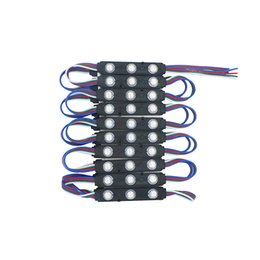 Rgb led modulos para letras de canal online-Negro PCB LED Módulo 5050 3 Leds impermeable IP65 RGB Led iluminación DC 12 V para letras de canal Publicidad signos retroiluminación