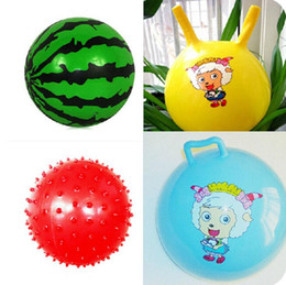 Wholesale Small Inflatable Balls - Kindergarten special children's inflatable ball. Baby watermelon balls, pat a small ball. Croissants ball 66g
