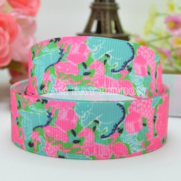 """Wholesale Free Ribbon Crafts - Free Shipping 7 8"""" 22mm Zebra Lion Flowers Printed Grosgrain Ribbon Hair Bow Tie DIY Handmade Sewing Ribbon Crafts Materials 50Yards"""