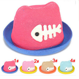 Wholesale Baby Girl Stocking Hats - Beautiful Crochet Hats Fashion And Comfortable Summer Girl Cap Cute Baby Hat Durable And Soft Children's Sun Hat 4 Color In Stock