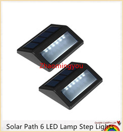 YON Solar Path 6 LED Lamp Step Lights IP55 Impermeabile Wireless Led Illuminazione di sicurezza solare Outdoor Garden Patio Portico Gutter Lanterna supplier porch step lights da luci di passaggio del portico fornitori