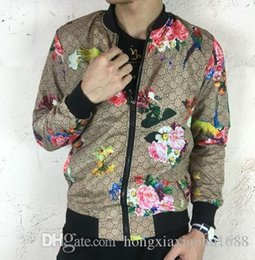 Wholesale Coat Business - New Arrival Men's Casual Jacket stand collar printing tiger baseball uniform business suit blazers Man Outdoor Coat Top quality