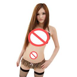 Сексуальный Леопард нижнее белье Женская пижамы Babydoll нижнее белье мини-платье один размер #R91 от Поставщики бикини взъерошенные