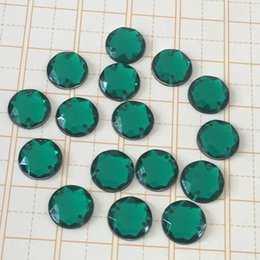 Wholesale Diamond Sewing Buttons - Diy green octagonal acrylic sewing button clip book circular multi - double hole imitation diamond 12 mm hand seam drill-T752D