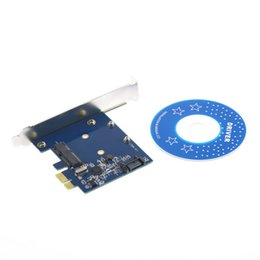 PCI-E PCIe mSATA SSD + SATA 3.0 Combo Genişletici Adaptör PCI-E SATAIII Kart Dünya Çapında StoreWholesale supplier pci msata adapter nereden pci msata adaptörü tedarikçiler