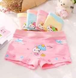 Wholesale Pattern Boxer Briefs - Wholesale Cute Girls Underwears Baby Big Girls Warm Breathable Bubbles Rabbit Pattern Boxers Shorts M L XL Sizes