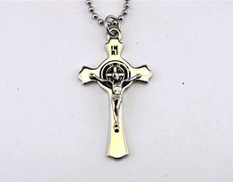 Wholesale Cross Casting - Titanium steel casting religion in Europe and America to restore ancient ways. Jesus cross necklace.pendant first STN423 .classic necklace