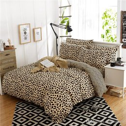 Wholesale Sexy King Comforter Sets - Simple fashion sexy leopard print AB edition cotton denim linen quilt bedding free shipping 1.8m   2.0m