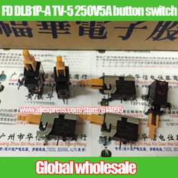 Wholesale Feet Tv - Wholesale- 10pcs FD DLB1P-A TV-5 250V5A button switch   5A   20A250V Power Switch 2 feet