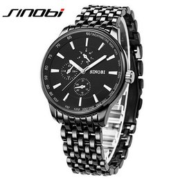 Wholesale Sinobi Casual - Sinobi Dress Quartz Business Sports Watches Men Military Steel Band Casual Wristwatch Waterproof Relojes hombre 2016 New