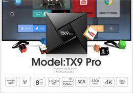 Wholesale Wifi Hdmi Android - M12 TX9 PRO Octa Core Android 7.1 Amlogic S912 TV BOX 3G 32G 2.4G 5G WiFi Bluetooth KD 17.4 Media Player VS T95Z PLUS M8S MXQ PRO