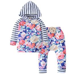 Canada 2 pcs Infantile Bébé Filles Vêtements Ensemble Hoodies Sweat À Capuche Tops À Manches Longues Tops Fleur Pantalon Tenues Bébé Fille Vêtements Ensemble Offre