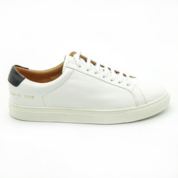 Wholesale Italy Brand Leather Shoes - Italy Original Common Projects Shoes Men Women Genuine Leather Sheepskin White Casual Platforms Shoes Woman Brand Chaussures