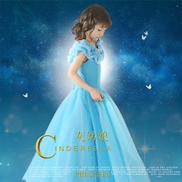 Wholesale Lace Embroidery Dress Catwalk - Cinderella movie with paragraph girls dresses flower girl dress catwalk show hosted necessary
