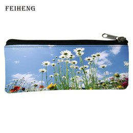 Wholesale Gift Bags Retail - Wholesale- Retail 2016 Fashion Oxford 100% Prints Fresh Children Gifts Black Pencil Bags for Teenagers Coin Purses Baby Girls