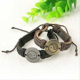 Wholesale Mens Leather Infinity Bracelet - Charm Bracelets for Women Mens Wrap Leather Charm Infinity Bracelet Multilayer Chain Jewelry Men Leather Infinity Bracelet