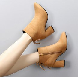 Wholesale European Heels - NEW type Fashion female European American Boots Ankle Boots motorcycle boots Ladies Fashion Boots Item No. SP-003