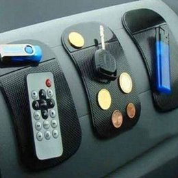 Wholesale Padded Dash - Wholesale- 3pcs lot Powerful Silicone Car Anti Slip Mat Magic Dash Mat Dashboard Sticky Pad For Phone GPS PDA Non Slip Pad Car Sticker