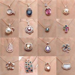 Wholesale Gold Does Fade - The new gold plating does not fade Ms. crystal pendant small mixed batch of European and American fashion