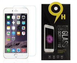 Wholesale S4 G4 - Tempered Glass Screen Protector Film For iPhone SE 5 5S 6 6S Samsung S6 S4 LG G4 G5 HTC M9 SONY Z5 Premium With Retail Package