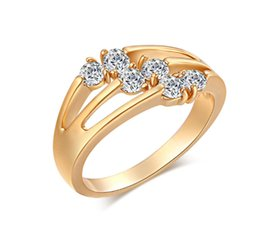 Wholesale Ring Elements - Austrian Crystal Wedding Rings For Men and Women Made With Genuine Swarovski Elements Ring For Girls Jewelry HR-085