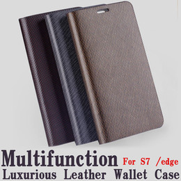 Wholesale Galaxy S4 Premium Case - For Samsung Galaxy S7 s6 edge Premium Leather Wallet Slim Fit Card Slot For Samsung S5 S4 Note5 Note 4 Free retail packaging