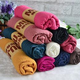 Wholesale Wholesale Cashmere Wraps - Women Oversized Cashmere Wool Solid Pashmina Scarf Wraps Warm Blanket Scarves long candy colors soft Shawl scarves fashion