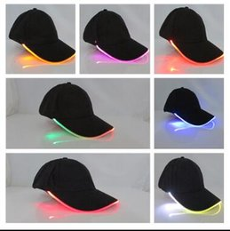 Wholesale Led Lights Different Colors - LED Light Hat Party Hats Boys And Grils Cap Baseball Caps Fashion Luminous Stage Snapbacks Fitted Hats Different Colors Adjustment Size