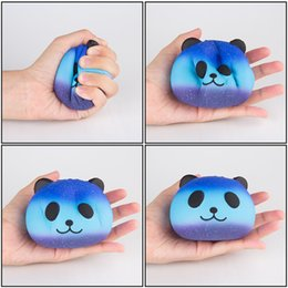 Wholesale Kids Squeeze Toy - 2017 DHL Free Cute PU Squishy Super Slow Rising Jumbo Panda Squishy Squeeze Phone Strap Kids Fun Toy Gift Decompression Toy