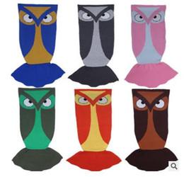 Wholesale Children S Birthday - Owl Animal Blanket Knitting Children Adult Sleeping Bag Best Birthday S M Mermaid Blankets Christmas Gifts for Children DHL Free Shipping