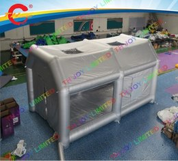 Wholesale Commercial Inflatables - free air shipping to door,4*4M 5*4m Inflatable Painting spraying tent for car,commercial air paint spray booth